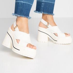 Converse One Star Heel Sandal Slip Egret/Black